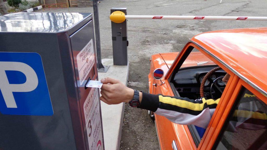 Открытие платной автостоянки