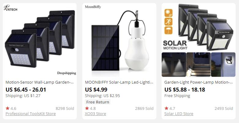 Солнечные энергетические продукты